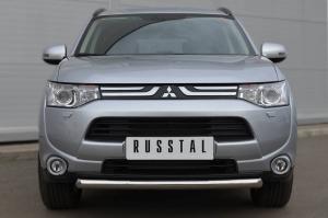 Mitsubishi Outlander 2012 Защита переднего бампера d63 (дуга) MRZ-001047